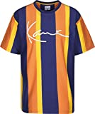 Karl Kani College Stripes T-Shirt Navy/orange/Yellow