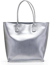 SUNROLAN Damen Tasche Handtaschen mit praktischem Innenleben Shopper