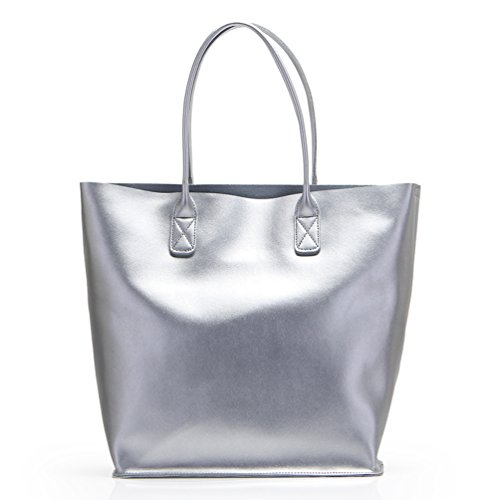 Silver Beach Bag: Amazon.co.uk