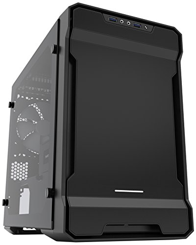 Phanteks Enthoo Evolv ITX Tempered Glass Mini-Tower Black computer case - Computer Cases (Mini-Tower, PC, Plastic, Steel, Tempered glass, Mini-ITX, Black, Gaming)