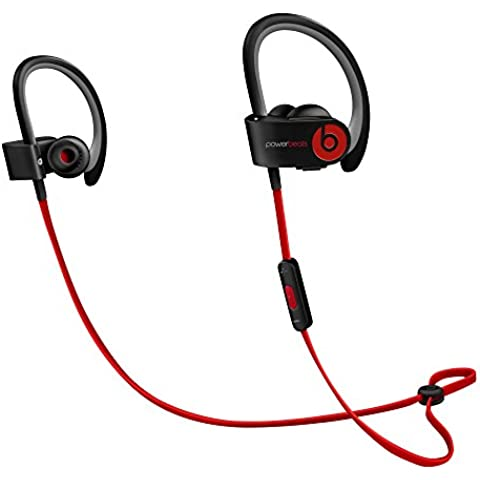 Beats Power2 - Auriculares in-ear (inalámbricos, IPX4, Bluetooth), color negro y rojo