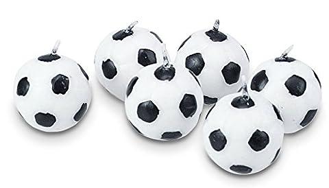 Städter ST041158 Kerzen Fussball Set 6-teilig ca. 2,5 cm