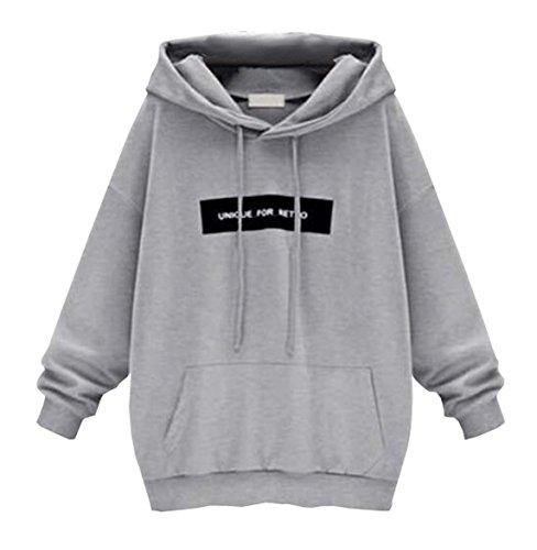 2018 Automne Femme Hiver Sweats à Capuche Pull Chic Sweat-shirts Pulls Manche Longue Sweatshirt Ado Fille Gris1