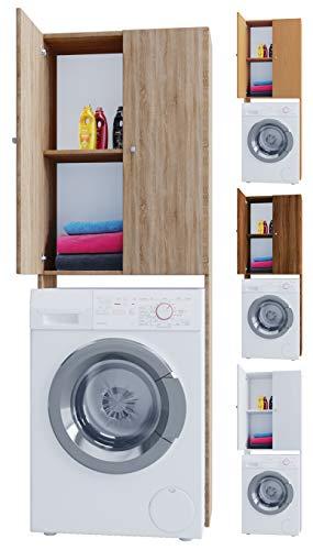 #VCM Vandol V4 Waschmaschine, Holzstruktur, Weiß, Einheitsgröße#