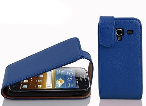 Cadorabo - Etui Housse Coque pour Samsung Galaxy ACE 2 I8160 en Flip Style - Case Cover Bumper Portefeuille en BLEU CÉLESTE