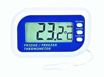 digitales thermometer f r k hlschrank oder gefrierschrank mit akustischem alarm maximal und. Black Bedroom Furniture Sets. Home Design Ideas