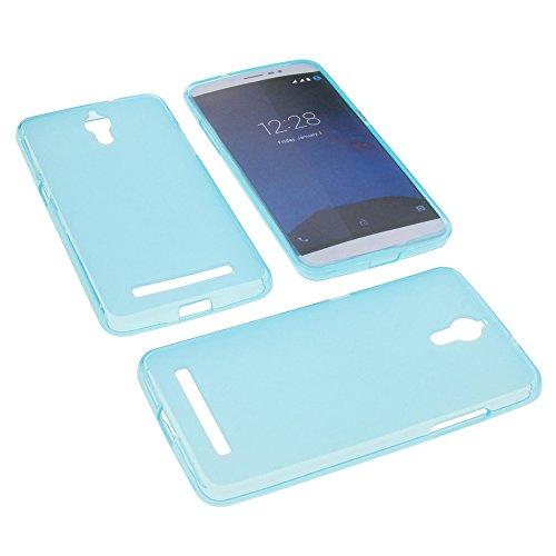 foto-kontor Tasche für coolpad Porto S Gummi TPU Schutz Hülle Handytasche blau
