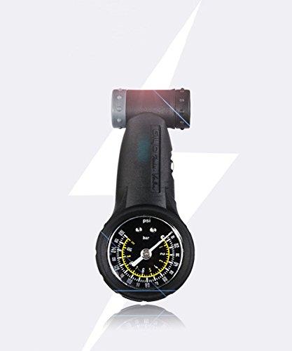 GANZTON Mini Fahrrad Manometer Fahrrad Druckmesser Luftdruckmesser Luftdruckprüfer MAX.160 PSI
