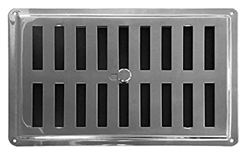 Adjusted Air Vent Inox 8,8 inch x 5,9 inch (225mm