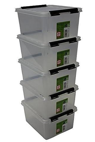 Orthex 35210705Clipbox Smart Store Classic Lot de 52Boîte de rangement en plastique transparent 21x 17x 11 cm