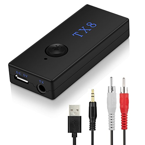 Trasmettitore Bluetooth, Aupolo Adattatore Trasmettitore Bluetooth Musica Audio da 3.5 mm Stereo / RCA per TV, Altoparlanti, Cuffie, PC, MP3/4 Stereo