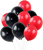 WoW Party Studio Latex Red & Black Balloons - 5
