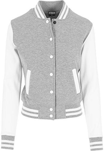 TB218 Ladies 2-tone College Sweatjacket, Größe:S;Farbe:gry/wht