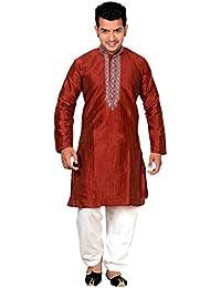 Herren Indian Maroon Sherwani Kurta salwar kameez für Bollywood mottoparty geschäfte Bradford London 749