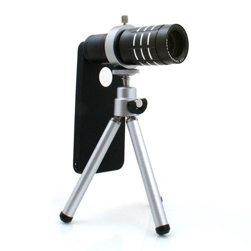 System-S - Caso de la cubierta 12x lente zoom telefoto y mini trípode para samsung galaxy s7 edge