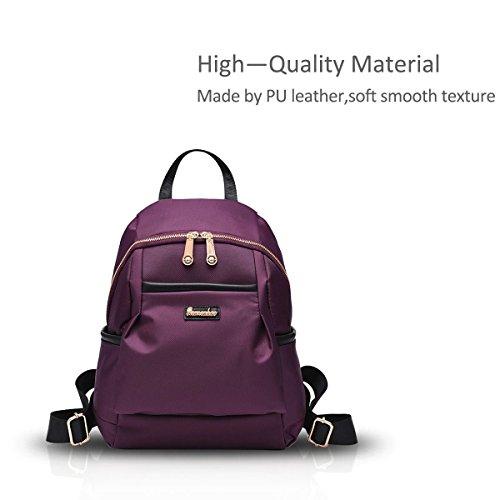 New Girl Schulter-Rucksack-Schule-Beutel Oxford Cloth Wasserdicht Einfache Versatile schwarz Nicole&Doris lila