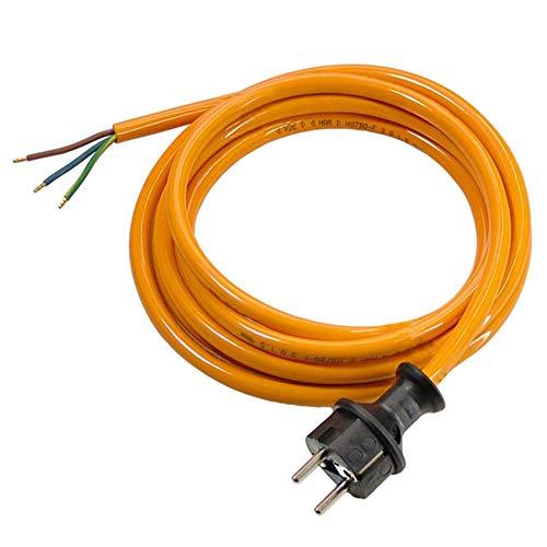 as - Schwabe 70908 Pur-Anschlussleitung, 5m H07BQ-F 3G1,5, orange, IP44 Gewerbe, Baustelle -