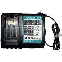 Cargador de batería para herramientas eléctricas, 7.2V-18V 3A Li-ion Cargador de baterías para herramientas eléctricas de carga rápida Accesorio para herramientas eléctricas para batería Makita de 14.4V 18V