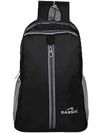 SASSIE Polyester 21 Ltr Black School Bag