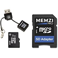 MEMZI PRO 32GB Class 10 90MB/s Micro SDHC Memory Card with SD Adapter and Micro USB Reader for Blackview S6, S8, A8, P6000, A10, P2, P2 Lite, A7 Pro, A7 Dual Mobile Phones