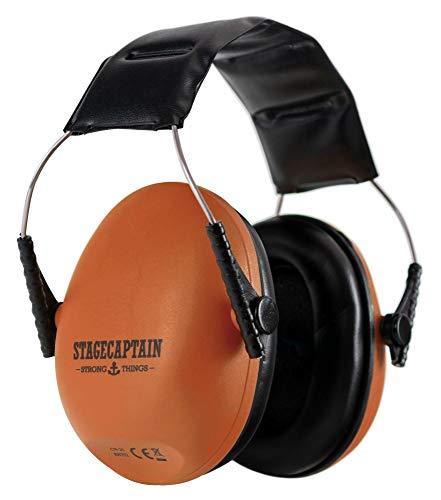 Stacaptain Contranoise CN-25 - Gehörschutz mit verstellbarem Kopfbügel - Ohrenschützer für Kinder und Erwachsene - Kapselgehörschutz mit 25 dB Dämpfung - Extra leichte Ear Muffs - Orange (Baby Ear Muffs)