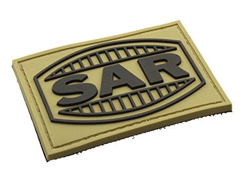 BEGADI 3D Rubber Patch/Abzeichen SAR - Schwaben Arms aus Hartgummi, mit Klett, 7x5cm - TAN (Sar-patch Klett)