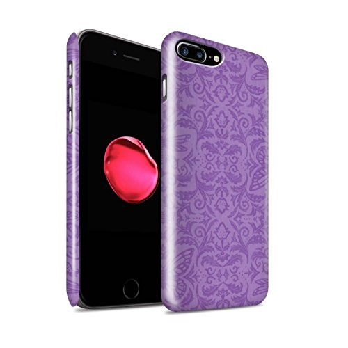 STUFF4 Glanz Snap-On Hülle / Case für Apple iPhone 8 Plus / Rosa Muster / Insekten Muster Kollektion Lila