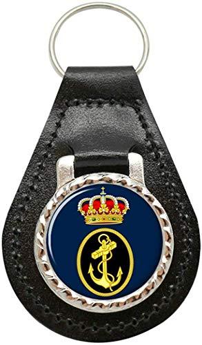 Giftshop UK Spanische Marine (Armada Espan ̃ Ola) Leder Schlüsselanhänger