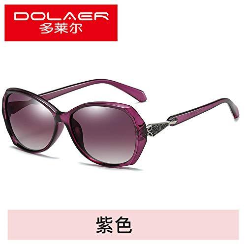 RW 2019 Neue Sonnenbrille rundes Gesicht Sonnenbrille Damen Flut Stern mit dem gleichen Absatz UV-Brille großes Gesicht Elegantes Netz rot