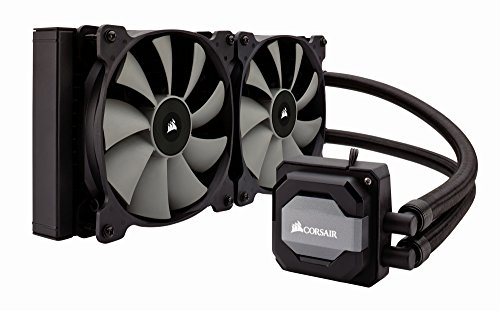 Corsair CW-9060026-WW RGB Hydro Series Wasserkühler (H110i 280 mm, All-In-One Extreme Performance) schwarz