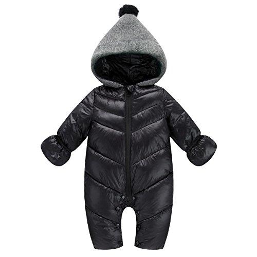 AHATECH Piumino Bambino Invernale Tute da Neve Neonato Hooded Pagliaccetti, Pagliaccetto del Bambino Inverno