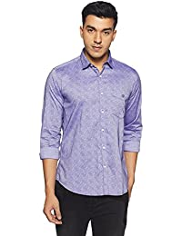 Van Heusen Sport Men's Printed Slim Fit Cotton Casual Shirt - B079L2ZXR8