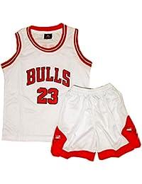 Daoseng Chico Niño NBA Michael Jordan # 23 Chicago Bulls Retro Pantalones Cortos de Baloncesto Camisetas
