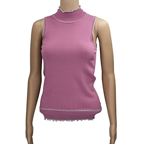 boulevard-size-s-maglia-smanicata-viola-argento-cotone-elastan