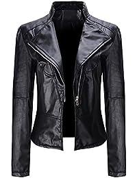 78d6c0043e0f OYSOHE Winter Warm Women Faux Collar Short Coat Leather Jacket Parka  Overcoat Outwear