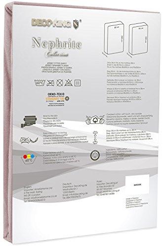 DecoKing 19214 80x200-90x200 cm Spannbettlaken Cappuccino 100% Baumwolle Jersey Boxspringbett Spannbetttuch Bettlaken Betttuch beige Nephrite Collection - 3