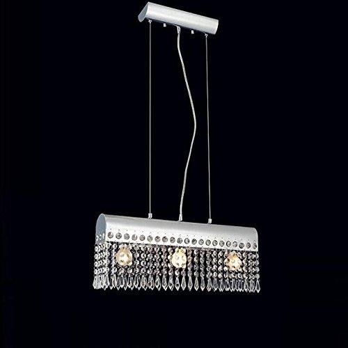 BJVB Soggiorno moderno sfera di cristallo lampadario di cristallo a sospensione della tenda della frangia (Acciaio Per Scale Ferroviaria)