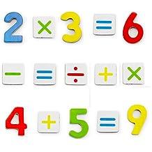 Vortigern - V51020 - 37 Números magnéticos de madera y signos matemáticos