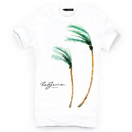 DEPARTED Herren T-Shirt mit Print/Motiv 3794-020 - New fit Größe XL, White
