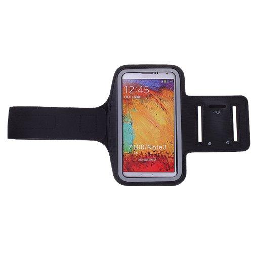 BRALEXX Armtasche Sporttasche Armband Laufen Joggen Hülle Case Cover Schutzhülle (max. 153x80x15 mm, Schwarz)