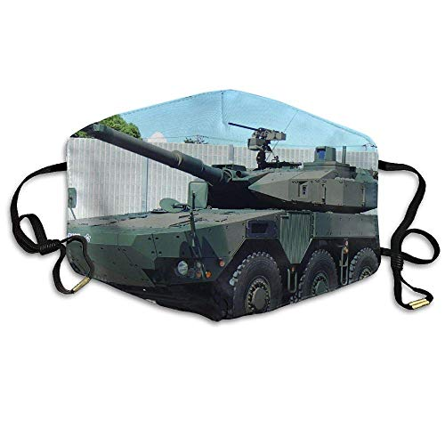 Green and Brown Military Tanks Anti Dust Breathable Face Mouth Mask for Man Woman -