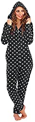Lora Dora Womens Luxury Onesie Hooded All In one Pyjamas Pjs Jumpsuit Ladies Size UK 6–16 from Lora Dora