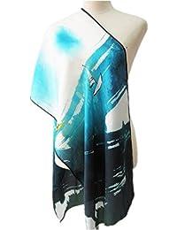 Prettystern - 160cm bufanda de seda larga con la impresión de la pintura china - diferentes diseños