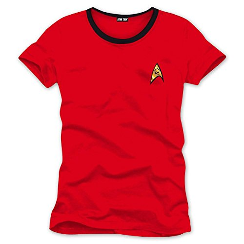 Star Trek T-Shirt -Uniform Scotty / Ingenieur (M) Star Trek Shirt Rot