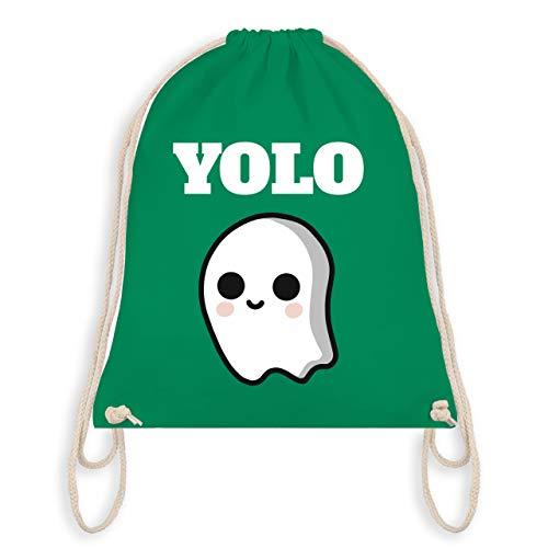 (Halloween - Geist YOLO Motiv - Unisize - Grün - WM110 - Turnbeutel & Gym Bag)