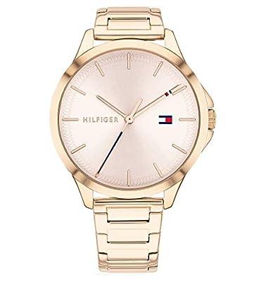Tommy Hilfiger Reloj Analógico para Mujer de Cuarzo con Correa en Acero Inoxidable 1782087