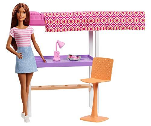 Deluxe-shop Schreibtisch (Barbie FXG52 - Deluxe-Set Möbel Hochbett mit Schreibtisch und Puppe)