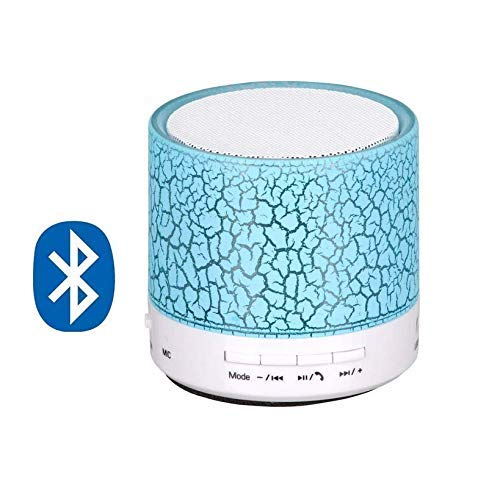 Earth Mart LED Bluetooth Mini Speakers with Handsfree Calling, FM Radio, Deep Bass Audio and SD Card Support.