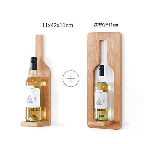 TUNBG Aufhängen Weinregale Massivholz kreativ modern minimalistisch Esszimmer Wand schmücken rot Wein Rack, Beech Wines (a Set) -