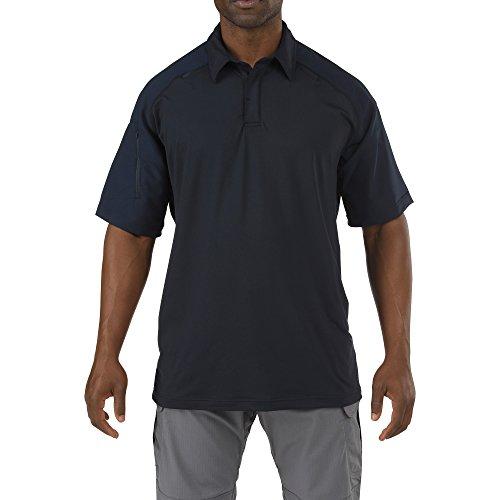 5.11 Men's Rapid Performance Short Sleeve Polo Shirt, Dark Navy, X-Small -